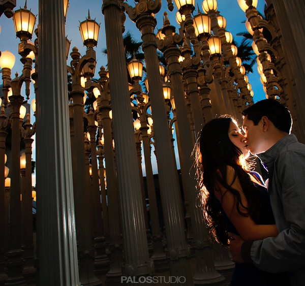 Union Station and LACMA Engagement Session | Paola + Carlos