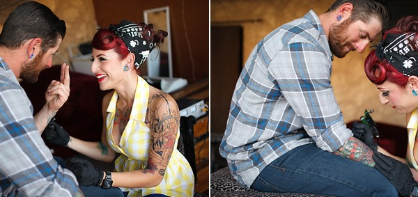 Tattooed Engagement Session | Christina + Nick