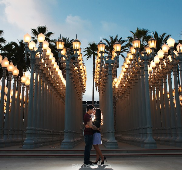 Beverly Hills and LACMA Engagement Session | Lea & Mark
