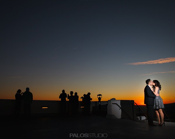 Los Angeles Griffith Observatory Engagement Session | Sanaz & Nathan
