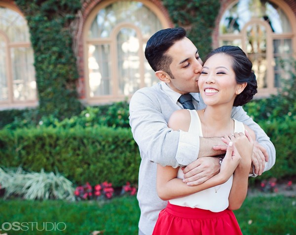 Los Angeles Library and USC Engagement Session | Sandra & Freddie
